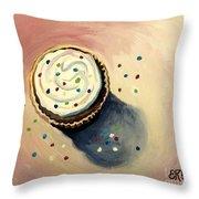The Delightful Cupcake Throw Pillow