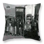 The Delivery Company Throw Pillow