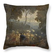 The Dell Of Comus Throw Pillow