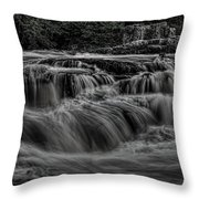 The Dells Of The Eau Claire Panoramic Throw Pillow