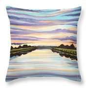 The Delta Experience Throw Pillow
