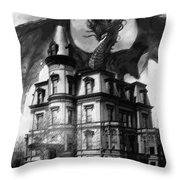 The Demon Of Hell House Throw Pillow