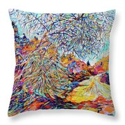 The Dendritic Tree Throw Pillow