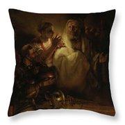 The Denial Of St Peter Throw Pillow