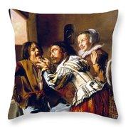 The Dentist, 1629 Throw Pillow