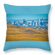 The Denver Skyline II Throw Pillow
