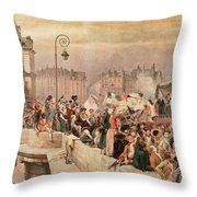 The Departure Of The Volunteers 1792 Throw Pillow