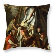 The Deposition Throw Pillow
