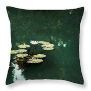 The Depths Of Lily Throw Pillow