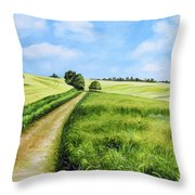 The Derbyshire Dales Throw Pillow