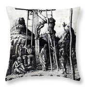 The Descent From The Cross 1475 Throw Pillow