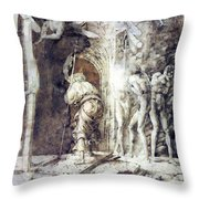 The Descent Into Hell 1468 Throw Pillow
