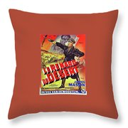 The Desert Fox  James Mason Theatrical Poster Number 2 1951 Color Added 2016 Throw Pillow