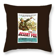 The Desert Fox  James Mason Theatrical Poster Number 3 1951 Color Added 2016 Throw Pillow