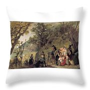 The Deserted Village Throw Pillow