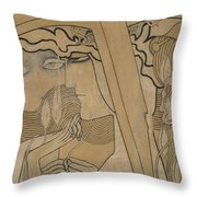 The Desire And The Satisfaction Throw Pillow