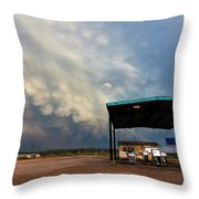 The Desolate Station Throw Pillow