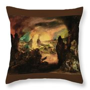 The Destruction Throw Pillow