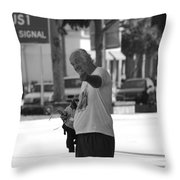 The Devil Man Throw Pillow