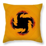 The Devil's Saw Blade Throw Pillow
