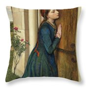 The Devout Childhood Of Saint Elizabeth Of Hungary, 1852 Throw Pillow