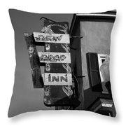 The Dew Drop Inn Throw Pillow