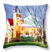 The Diamond In October Throw Pillow