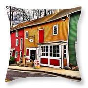 The Diamondback Tavern Of Ellicott City Throw Pillow