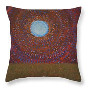 The Difficulty Of Crossing A Field Original Painting Throw Pillow