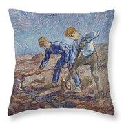 The Diggers Throw Pillow