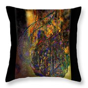 The Digital Heart Of The New City Throw Pillow