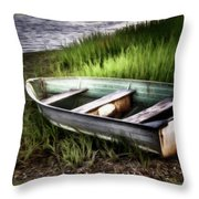 The Dinghy Throw Pillow