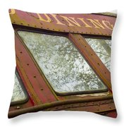 The Dining Car Throw Pillow