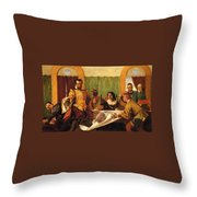 The Dinner Scene From Taming Of The Shrew Throw Pillow