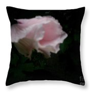 The Disappearing Flower  Throw Pillow