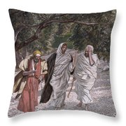 The Disciples On The Road To Emmaus Throw Pillow by Tissot