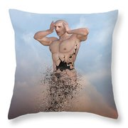 The Disintegration Of Human Values Throw Pillow