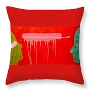 The Distance Between Me And Myself Throw Pillow