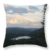 The Distant Hills Of Vermont Throw Pillow