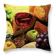 The Divine Meal Throw Pillow