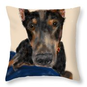 The Doberman Throw Pillow