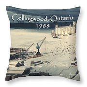 The Dock - Revisited Throw Pillow