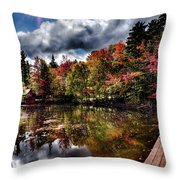 The Dock At The Boathouse Throw Pillow