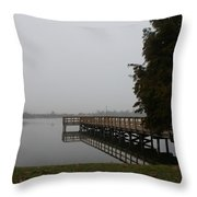 The Dock Throw Pillow by Michael Tesar