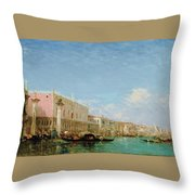 The Dock Of Slaves Throw Pillow