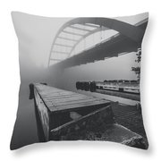 The Docks Throw Pillow by Amber Dopita