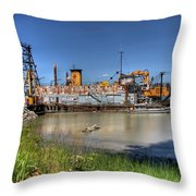The Docks II Throw Pillow by Lawrence Christopher