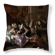 The Doctor's Visit Throw Pillow