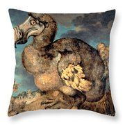 The Dodo, 1651  Throw Pillow