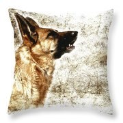 The Dog Speaks Throw Pillow
